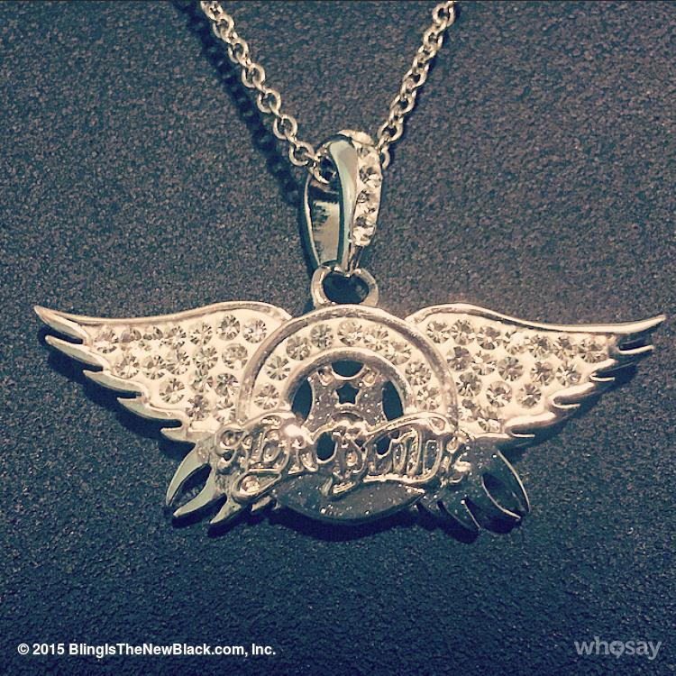 Closeup of the new @aerosmith crystal necklaces going out today! If you haven't ordered yet, go get yours now!