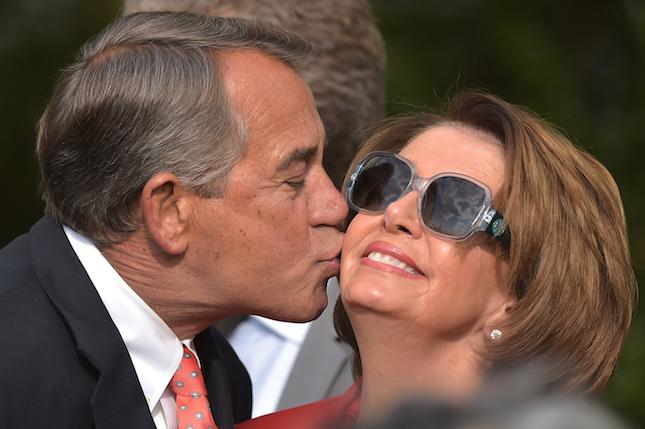 Weeper Boehner kisses Pelosi (again)