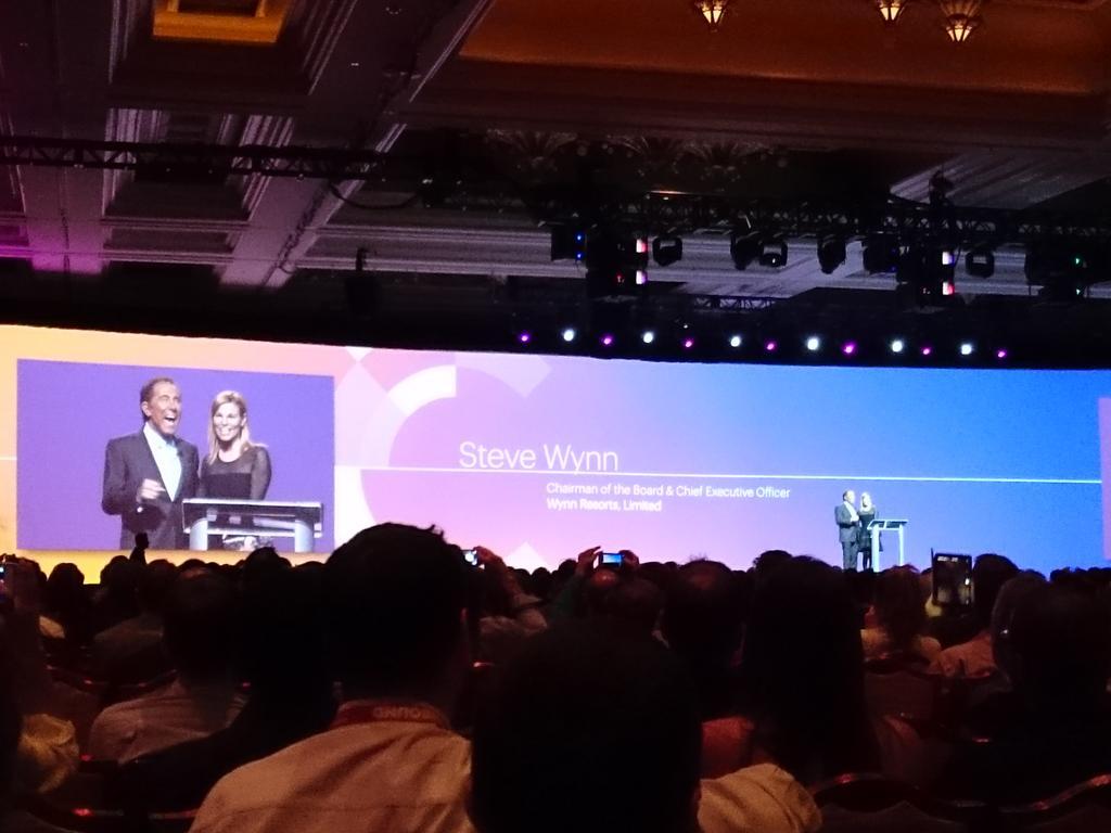 magento_rich: Steve Winn on stage now! @WynnLasVegas #ImagineCommerce @magento http://t.co/6f9S2lvDdk