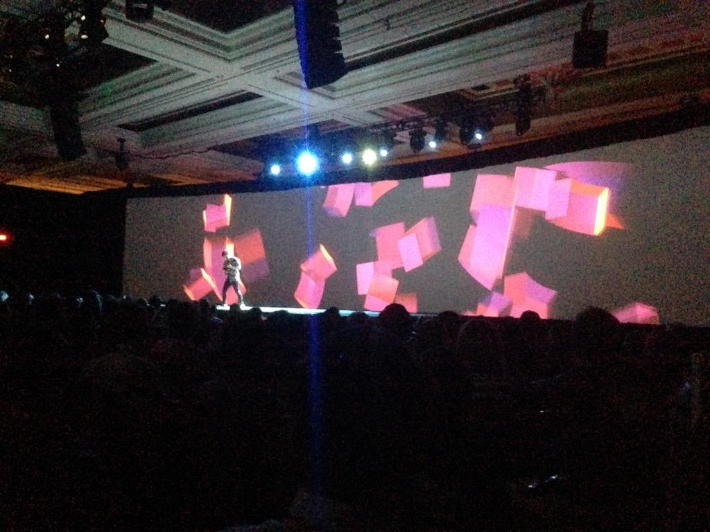 WouterSteen: Small guitar dude is back! #ImagineCommerce http://t.co/ci4X6ZbVjF