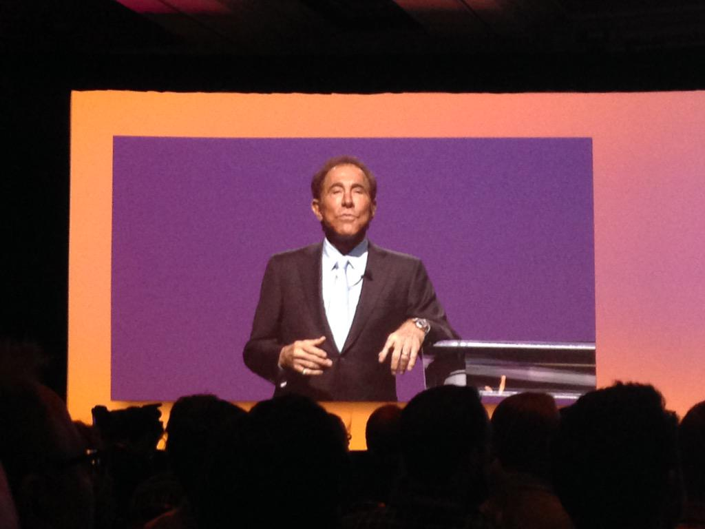 monocat: Steve Wynn in person on stage at #ImagineCommerce The man who built today's Las Vegas http://t.co/8wn38bAyzP