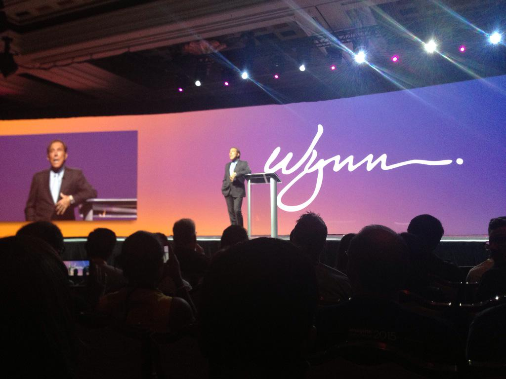 aronstanic: And now it's Steve Wynn taking the stage at @WynnLasVegas for #ImagineCommerce http://t.co/CaLI3CIwis