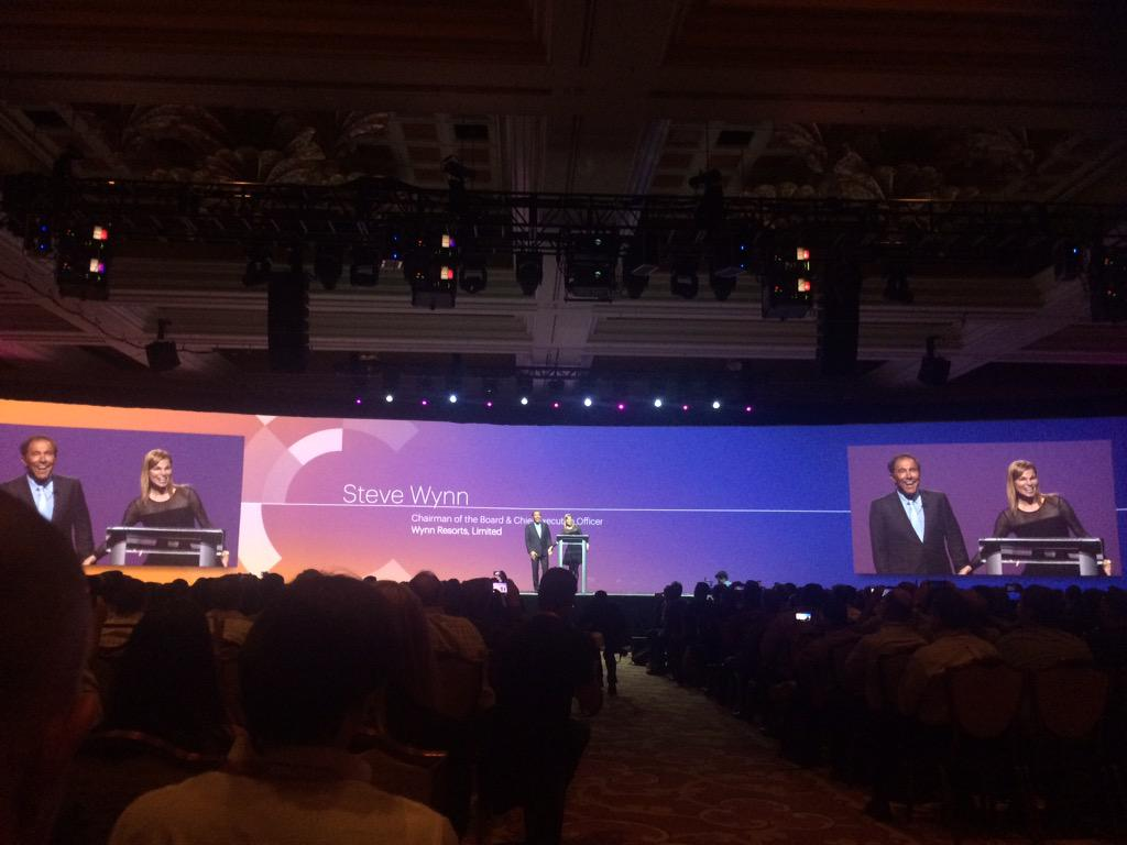 dotmailer: Sinatra & Dean Martin comes on & the very impressive #SteveWynn walks in to present the keynote at #ImagineCommerce http://t.co/TbCaKTtUOK