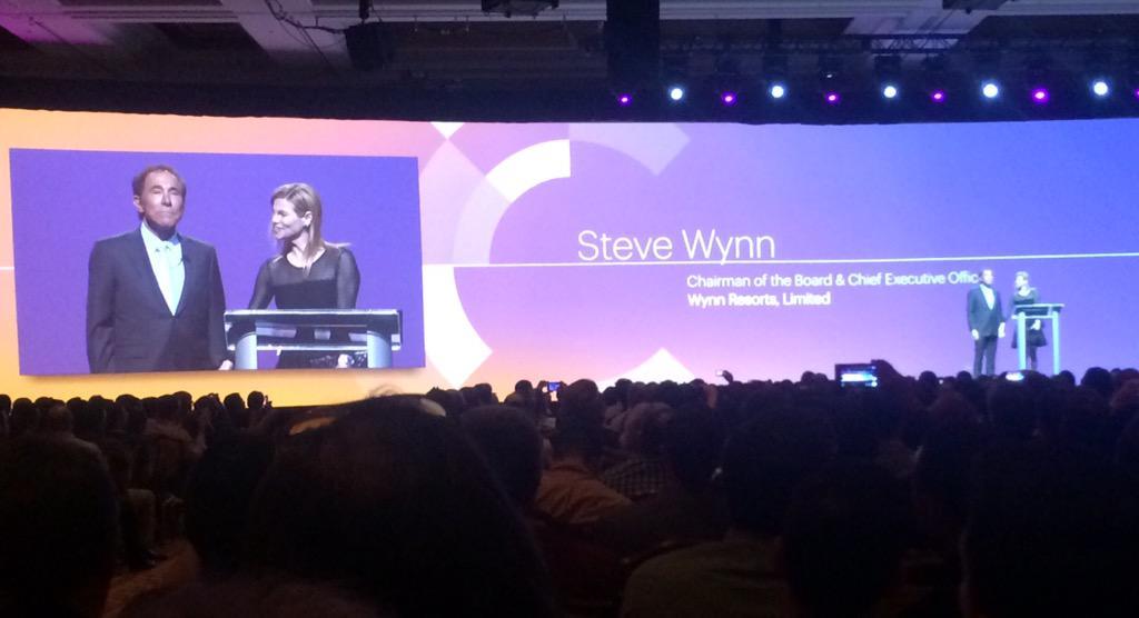 JennHawkinson: ''People' make people happy' -Steve Wynn, Keynote Speaker at #ImagineCommerce @JEBCommerce http://t.co/pefUefnXNe