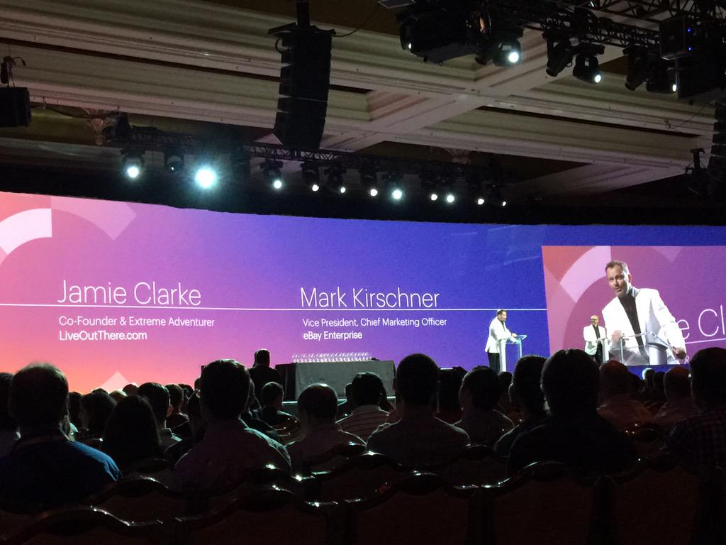 JoshuaSWarren: Starting off the #ImagineCommerce awards ceremony with @JC_Climbs and @mkirschner http://t.co/N4Dm6JMPdM