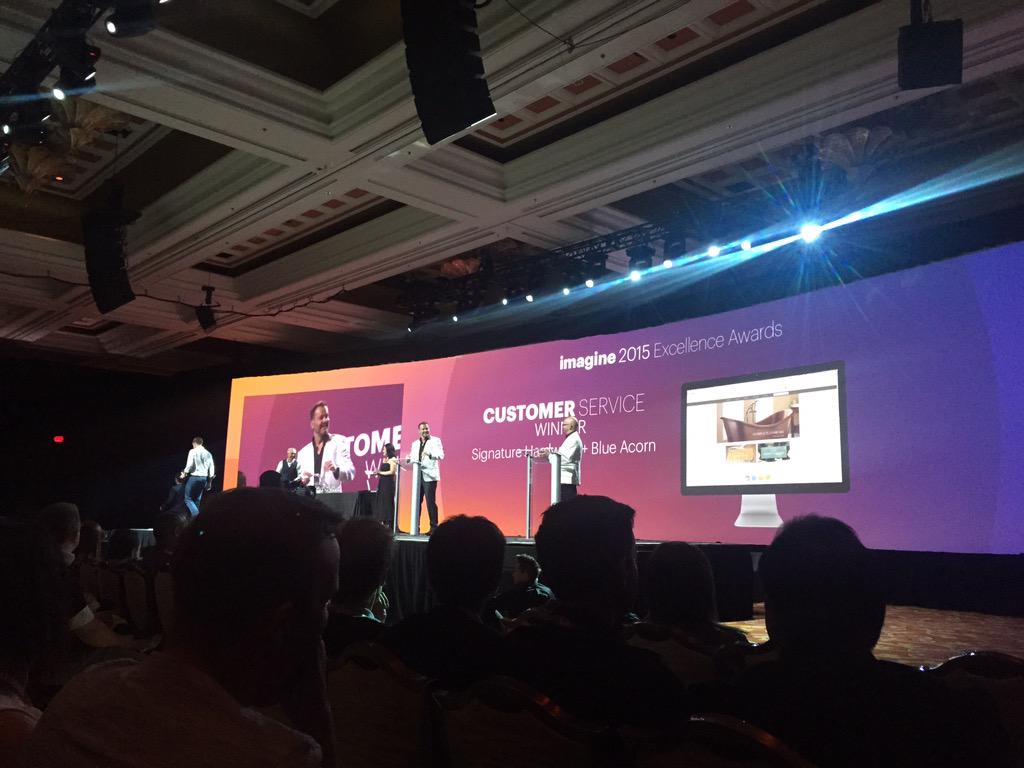 gelizabeths: Congrats to @SignatureHW for their win in the customer service category! #ImagineCommerce http://t.co/CceGCEQxFP