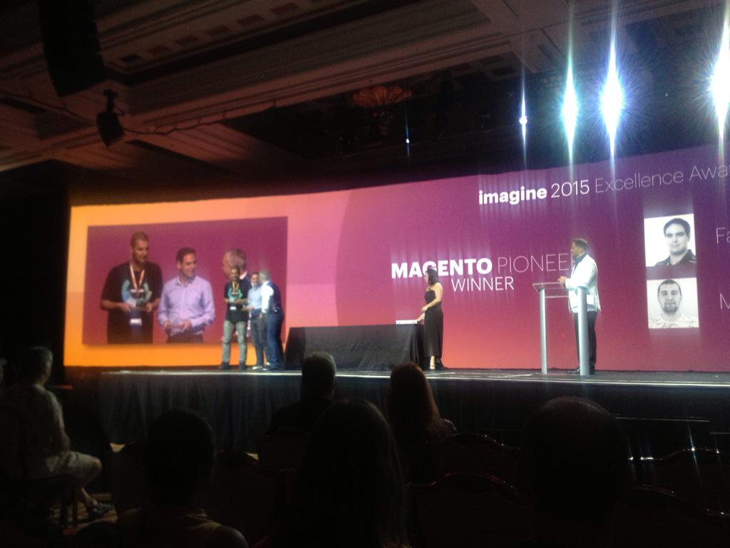 MagentoFeedle: Most important #ImagineCommerce award - Magento Pioneer Award goes to MariusStrajeru and fbrnc - CONGRATS! http://t.co/FPGcPSjB3S via inchoo