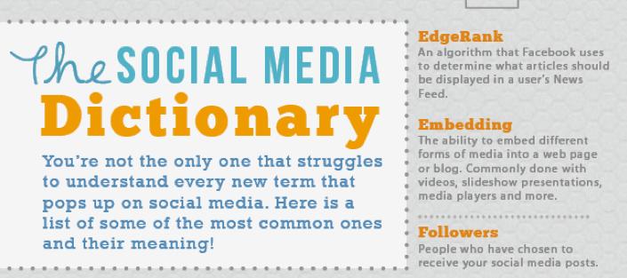 The Complete Social Media Dictionary; Social Media Glossary of Terms #socialmedia #mktg http://t.co/Ec9BelHLP6 http://t.co/wJVyxDKe3Z