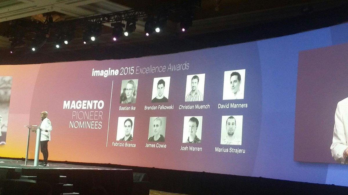 LawrenceByrd: The important @magento moment. #imaginecommerce #realmagento #dev http://t.co/0GoOtKTLdp