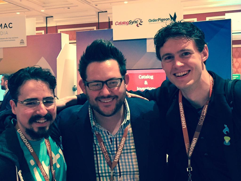 WebShopApps: Awesome guys #ImagineCommerce @philwinkle @allanmacgregor @blackbooker http://t.co/1zt4xA6Lzw