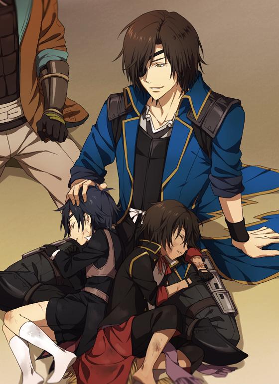 【刀バサ】 「ちーと無理させたか…」 「二人とも随分と張り切っておりました故、疲れたのでございましょう」