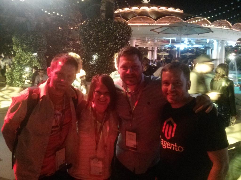 sherrierohde: A legendary crew at a legendary party! (Thanks @iopflygirl!) #realmagento #imaginecommerce http://t.co/iqsrORtdzm