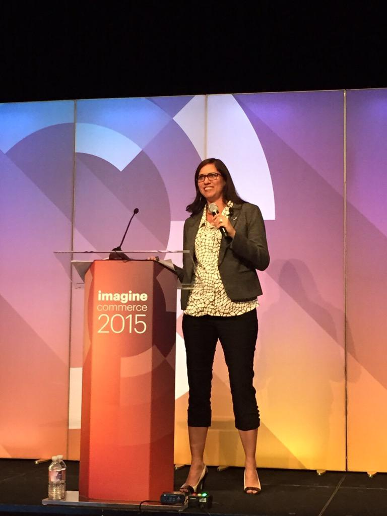 Canto: Great speaker, great topic. @Leslie_Weller on #ImagineCommerce stage http://t.co/AXJMLTxe4Z