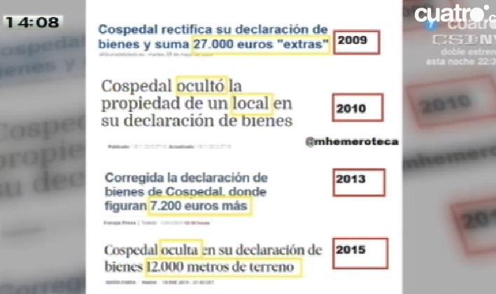 """Cospedal #PP: """"Hemos trabajado mucho para saquear a nuestro país"""". Y a ocultar bienes en las declaraciones JaJaJa http://t.co/tbGdqEWCwN"""