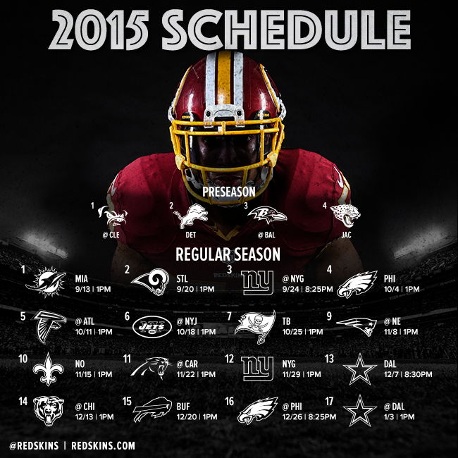 photograph about Redskins Printable Schedule named Washington Redskins upon Twitter: \
