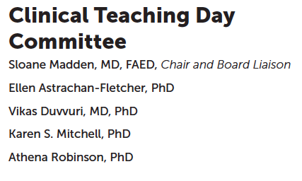 Thank you to our #ICED2015 #Clinical #Teaching Day Committee! http://t.co/oyMJZcxTgJ