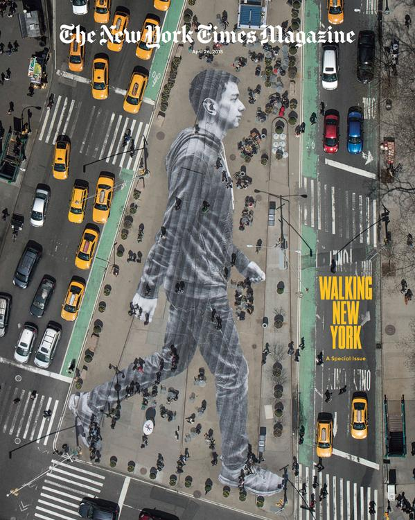 New cover of @NYTmag. The amazing @JRart made a massive pasting on Flatiron Plaza & photographed it from a helicopter http://t.co/AUUuydf4lD