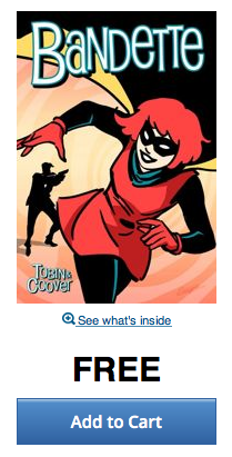 For a limited time, the first issue of Bandette is FREE on @comiXology!! https://t.co/0ZhpWFr5Gi http://t.co/1Lafpdaz5U