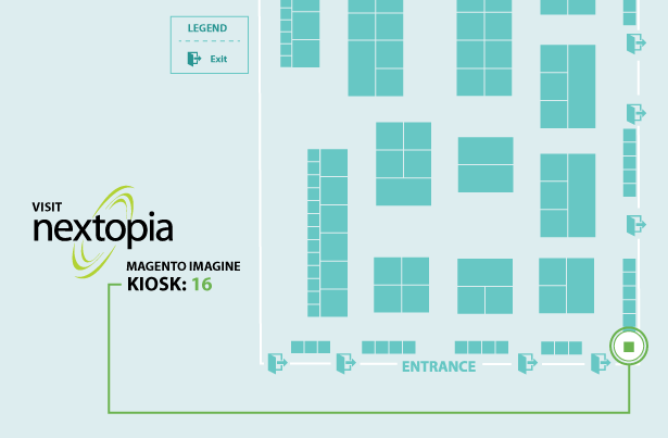 Nextopia: Use our map to make your searching easier, Nextopia can be found at kiosk 16! #MagentoImagine http://t.co/RZFVYGyaaZ