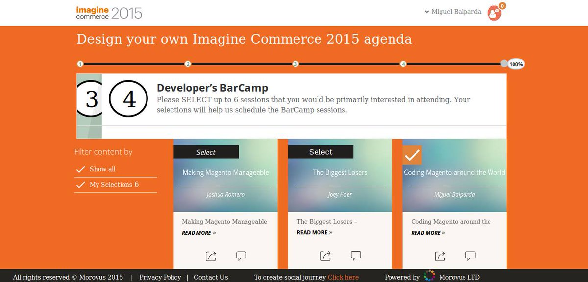 SantexGroup: Join one of our experts speaking at #ImagineCommerce Developer's Barcamp. http://t.co/13RVvjDNn0 @magento @mbalparda http://t.co/x3x2yBcikH
