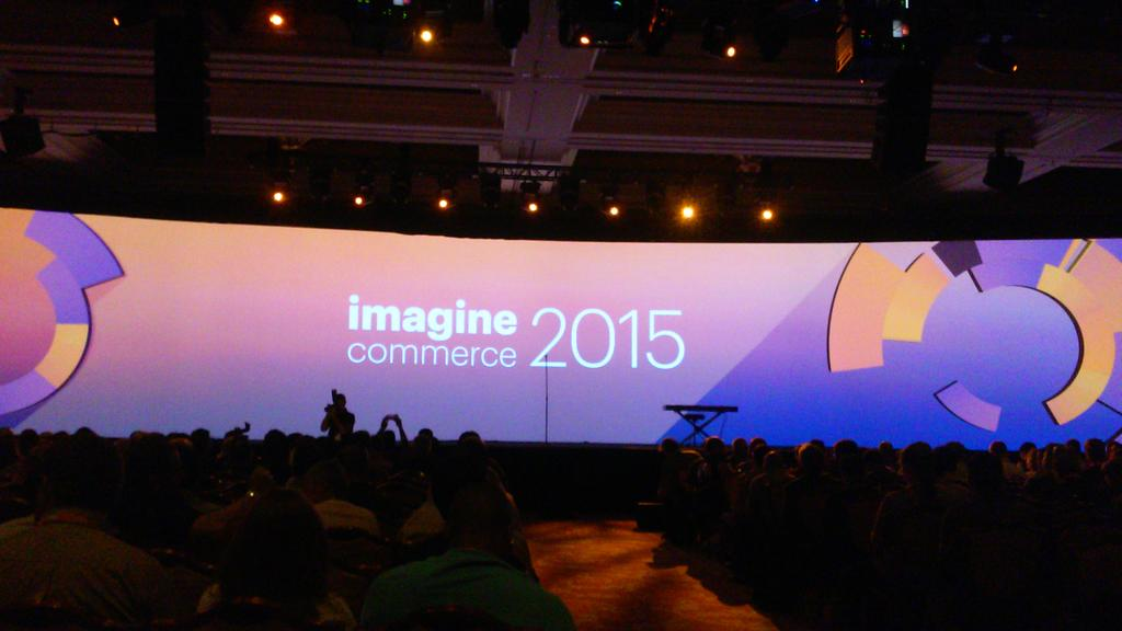 mauricio_laja: #Imaginecommerce the show is about to begin 3rd day. http://t.co/JDqeH0iut0