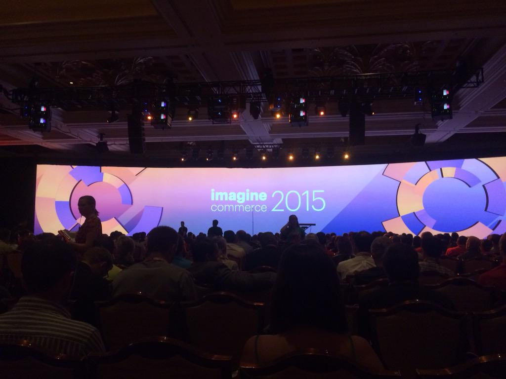 onetreeows: General session III keynotes ready! #ImagineCommerce http://t.co/yLWcIF7RbF