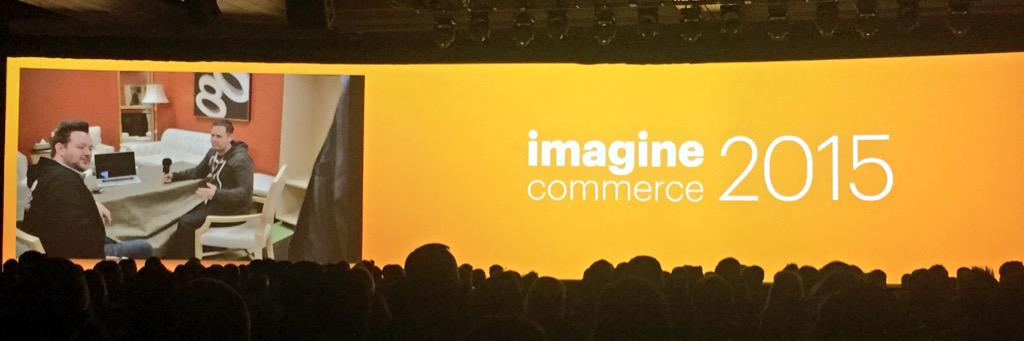 AgenceSOON: #magento #ImagineCommerce 2015 last keynote about strategy, vision & roadmap. What's next in the future of Magento ? http://t.co/oWev96N4Ng