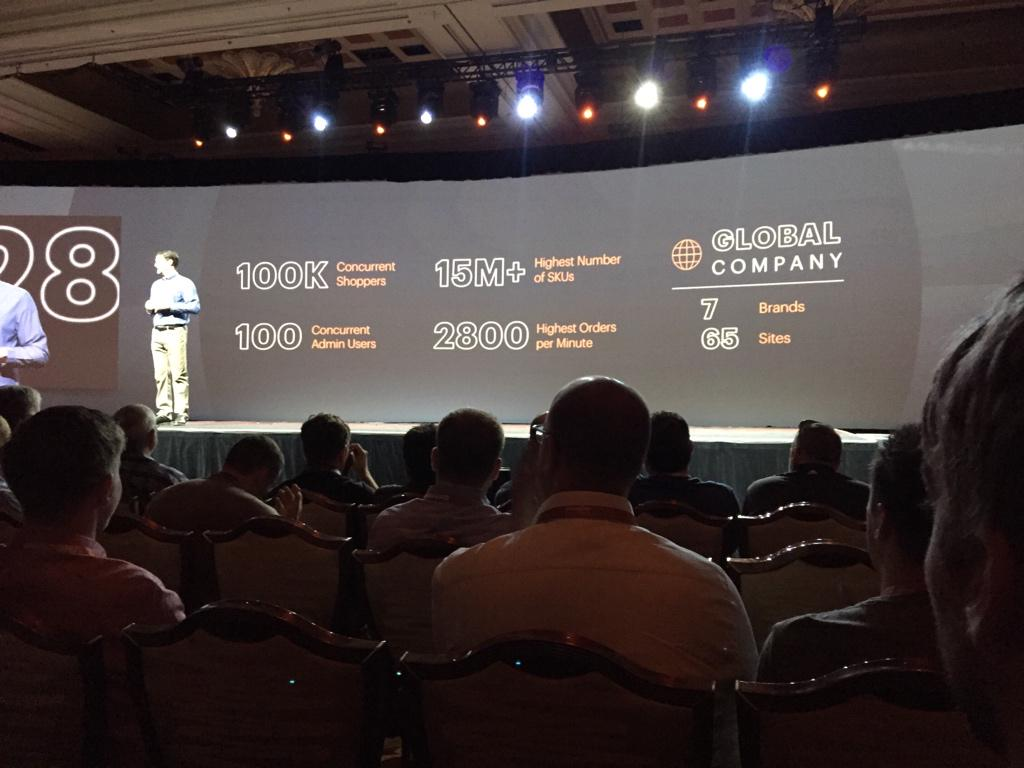 drlrdsen: Pretty impressive numbers by @magento customers on the current version presented by @mklave1 at #ImagineCommerce http://t.co/Zkj4Tp5uN6