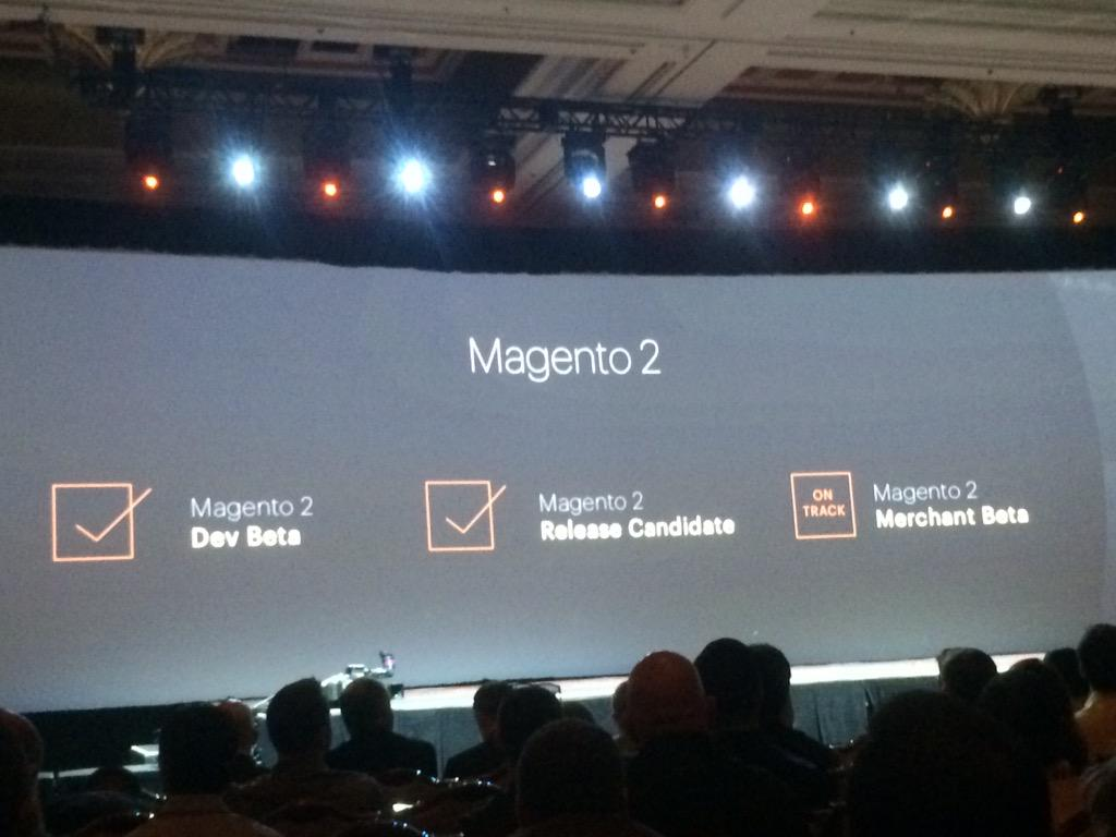 RevenueConduit: Magento 2 coming! much progress & big part of #MagentoImagine. It'll take magento thru next 10years of ecommerce http://t.co/hiJYAcdviF