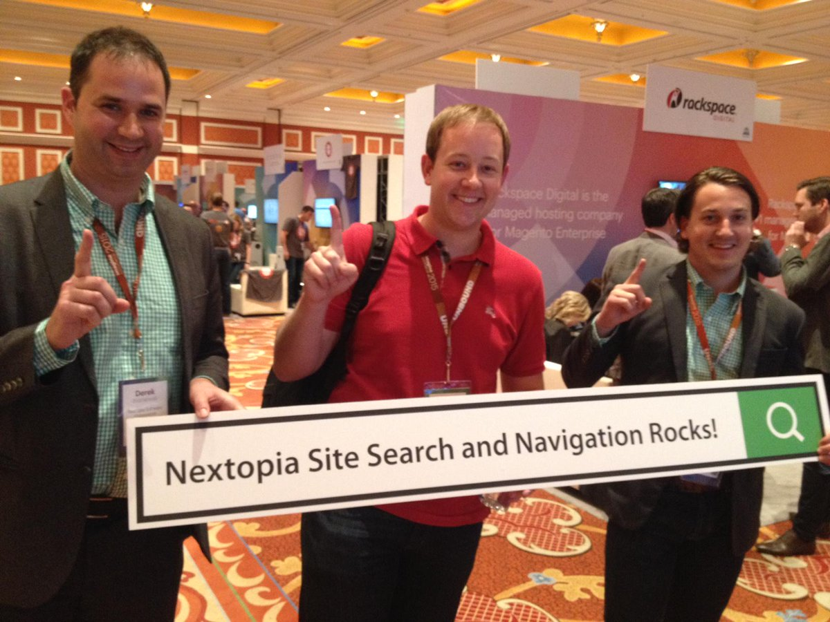 Nextopia: Adam knows Nextopia is the #1 provider of site search and navigation solutions! #magentoimagine #imaginecommerce http://t.co/Ct0vIlB2hY