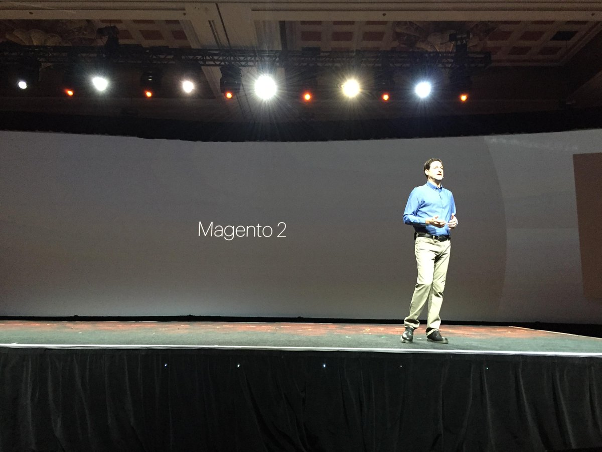 AugustAsh: eBay Enterprise Senior Vice President - 'Magento 2.0 is the ecommerce platform for the future.' #MagentoImagine http://t.co/brWSQZBq3S