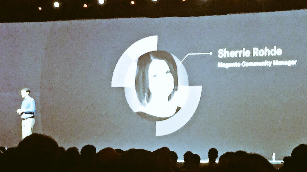 ignacioriesco: Super!!! Congrats @sherrierohde being officially announced at #ImagineCommerce #realmagento http://t.co/BGk1JKqSJU