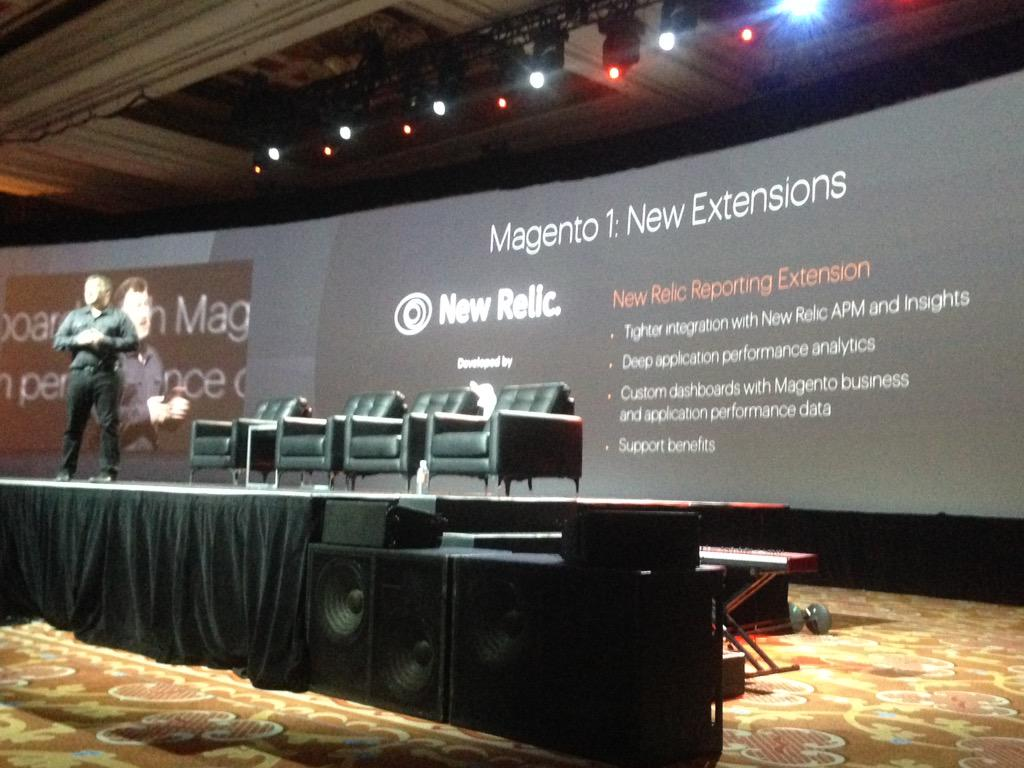 SheroDesigns: New Relic integration with #Magento = extension by @blueacorn @ProductPaul #ImagineCommerce http://t.co/0p3N5Pu6oH
