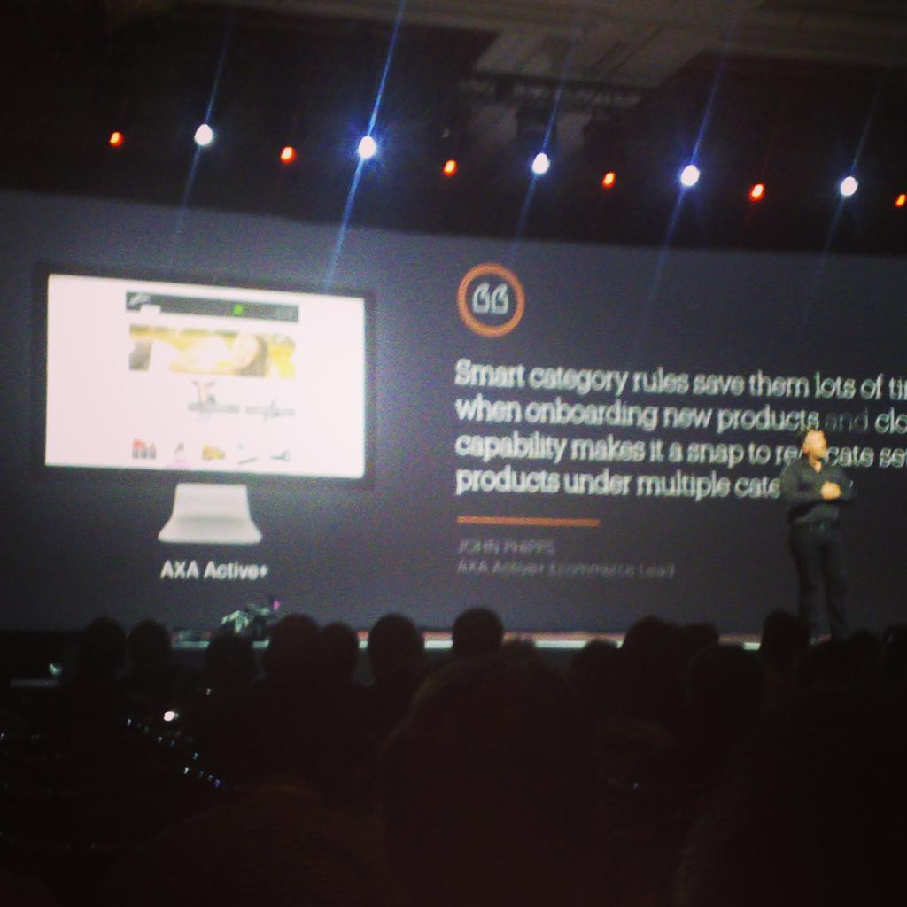 dmfreedom: AXA active by @redboxdigital featured in the @magento general session at #imaginecommerce http://t.co/vz7mjeFSLK