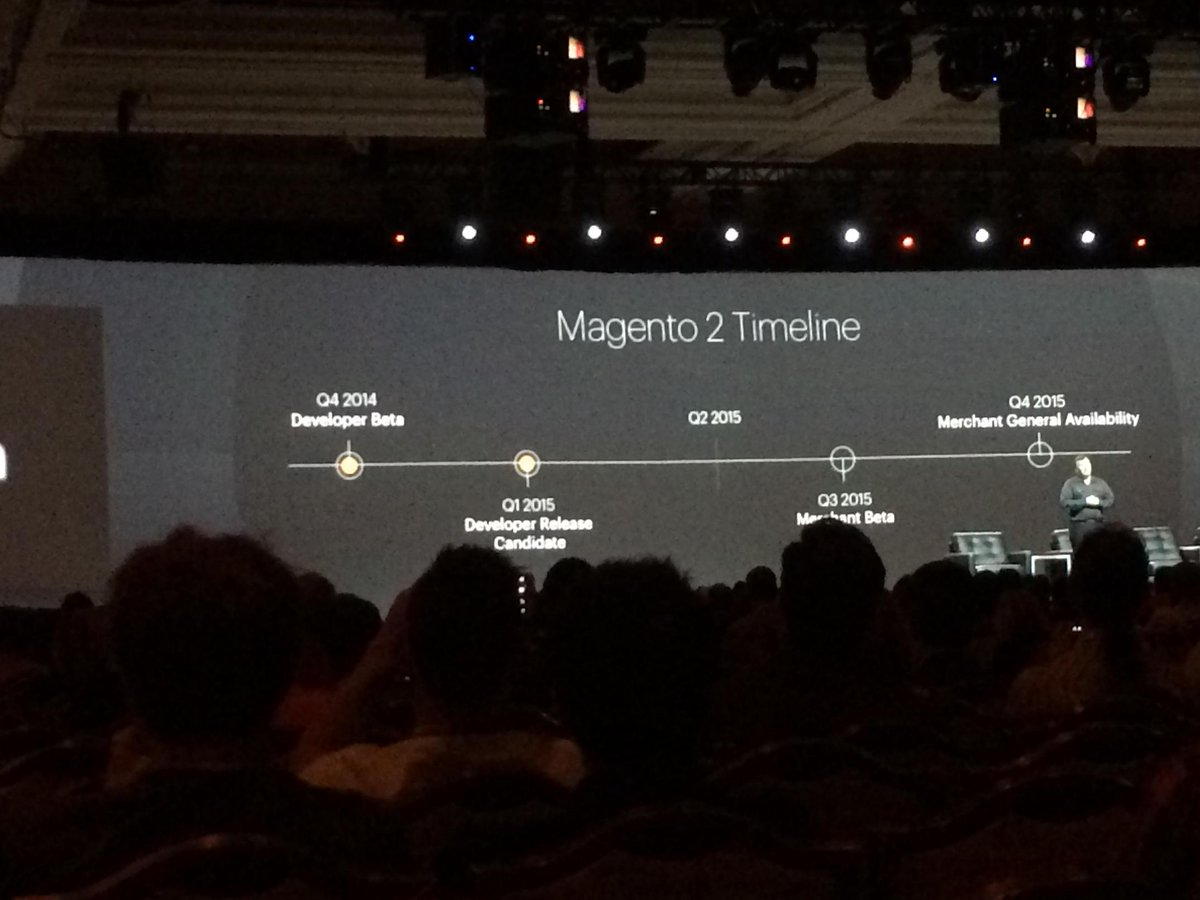 mgoldman713: #magento2 timeline @magentoimagine #realMagento http://t.co/h6Wh2a2YMh