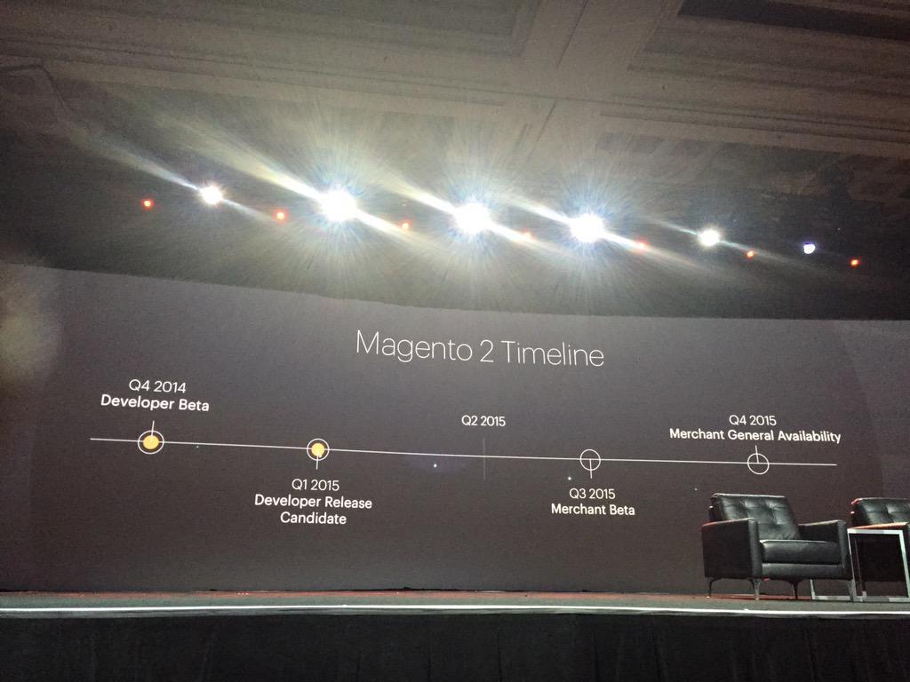DCKAP: @magento #ImagineCommerce @ProductPaul magento 2 schedule http://t.co/nOofe1GfN5