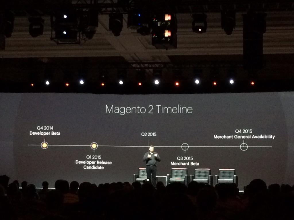 antoinekociuba: #magento2 official timeline #ImagineCommerce @AgenceSOON http://t.co/HUevfzotub