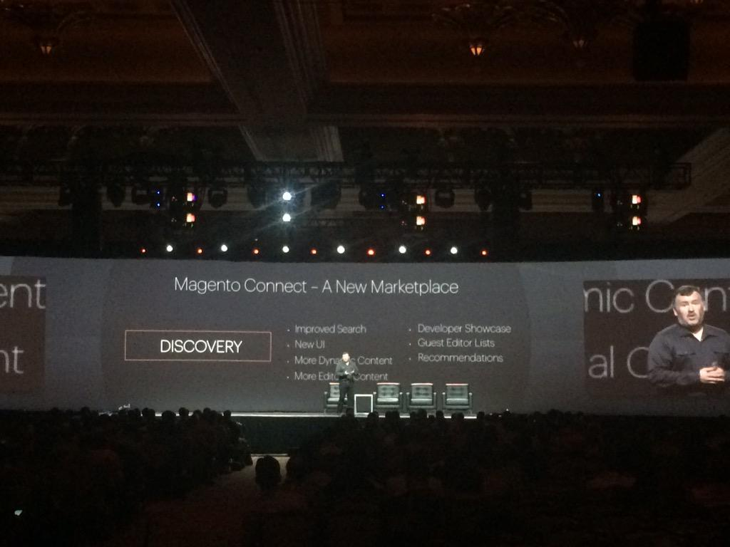 D_n_D: Magento Connect, a new Marketplace.  #Magento2 #ImagineCommerce http://t.co/4kzczzVGHb