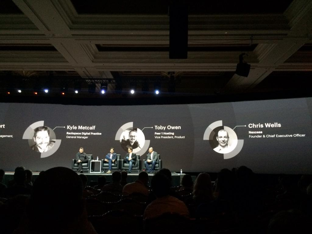 blackbooker: Talking cloud with @ProductPaul and leaders from @Rackspace @PEER1 and @nexcess #ImagineCommerce we doing it right? http://t.co/9helhOwrgt
