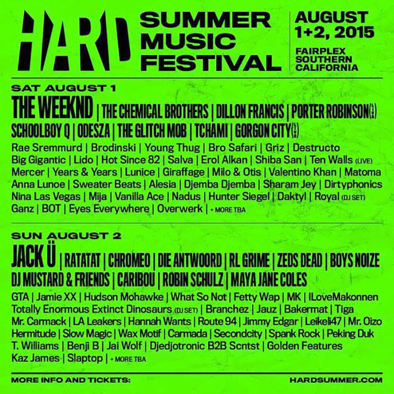 WOAHHH @HARDFEST #HSMF15 LINEUP LOOKING HUUUUUUUUGE. Digging the new website too!