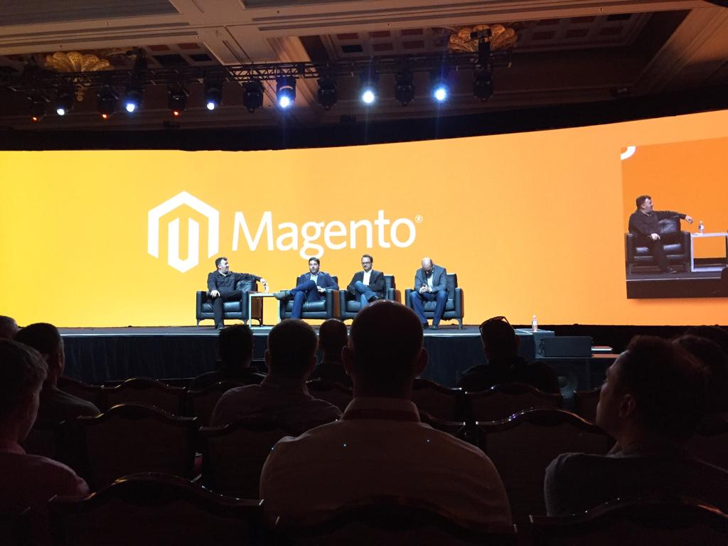drlrdsen: The best thing about the current discussion is the huge Magento logo in the back! #ImagineCommerce http://t.co/4cSc7S7Zcw