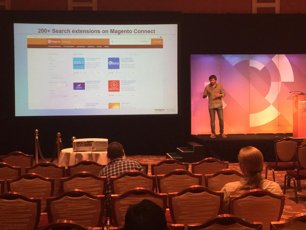 Blue_Bovine: #ImagineCommerce Igor Rocks search details  for m2 at Dev bar camp http://t.co/rfMsBwATR7