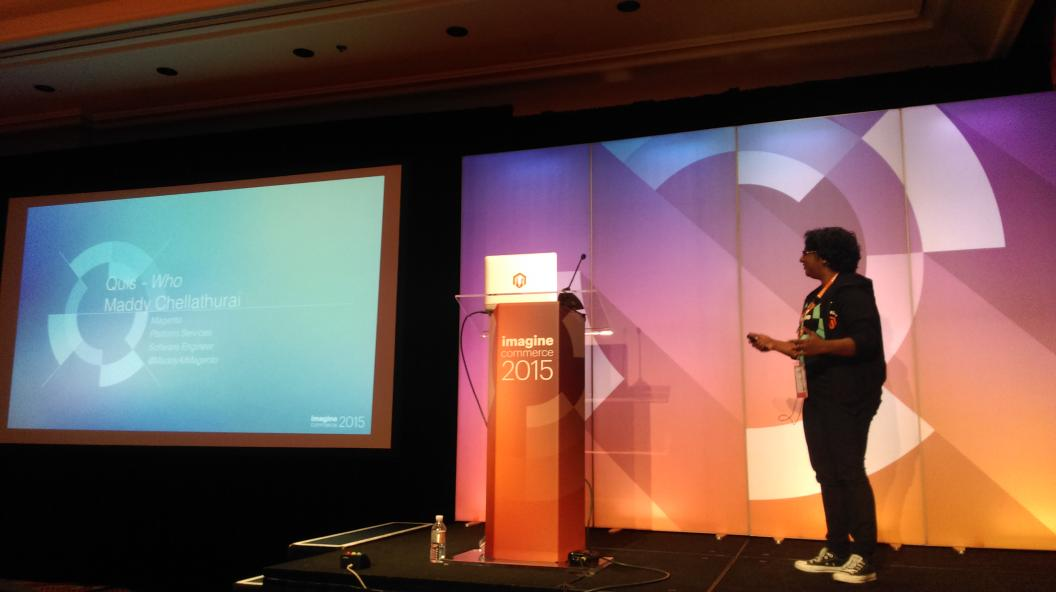 BuskaMuza: @MaddyAtMagento presents new approach to implementing installs and upgrades at #MagentoImagine http://t.co/3GVskBs16k
