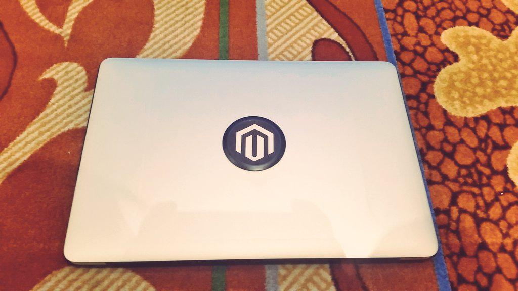 guido: Magento branded macbook #ImagineCommerce http://t.co/QyunO8RkTL