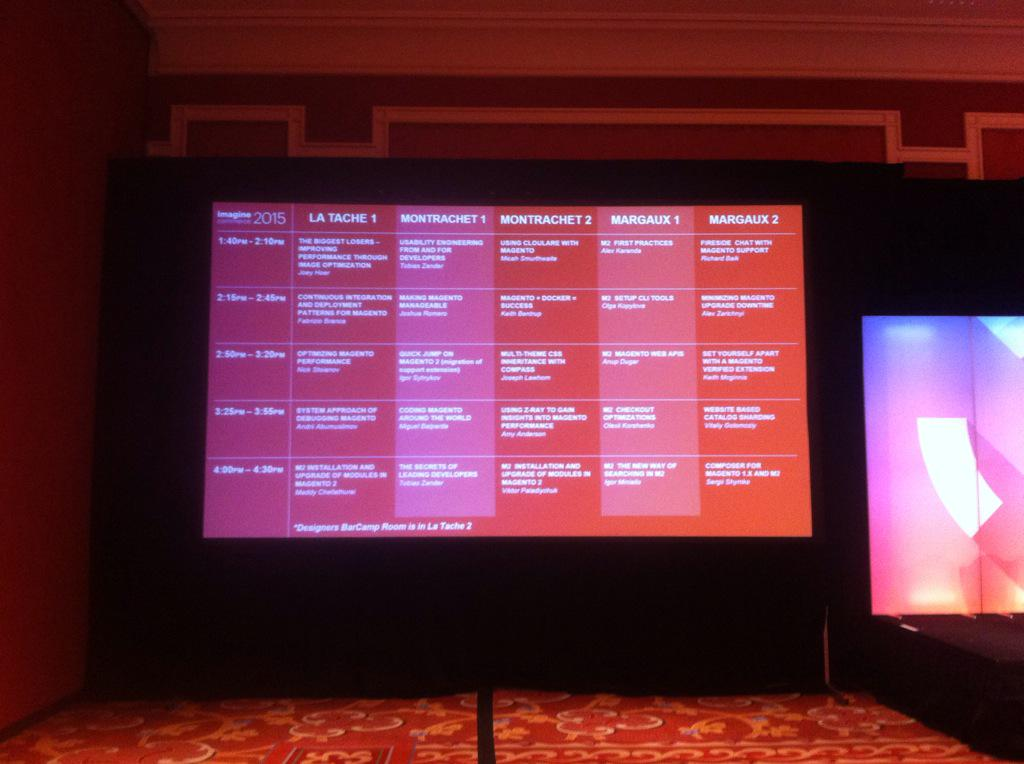 mbalparda: Coding Magento around the world will be at 3:25 in Montrachet 1! Everyone invited! #ImagineCommerce #MagentoImagine http://t.co/NNKjcTuPNC