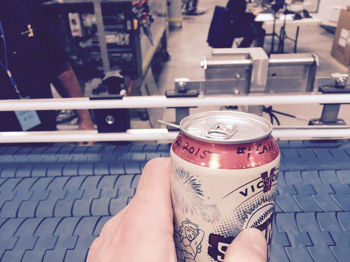 Here it is, folks...the first can off our canning line!  More news on our first can release soon! Can Can Can Can ^MB http://t.co/U2ze8LaIMW