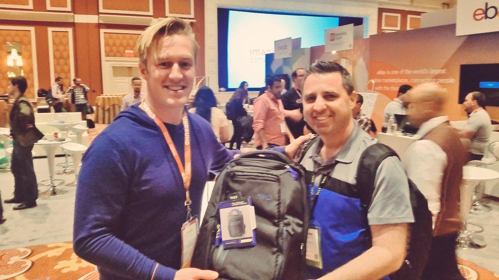 guido: w00t! Got the PERFECT @tyltproducts conference backpack from @monocat ! #ImagineCommerce http://t.co/5Opkmqb5zA