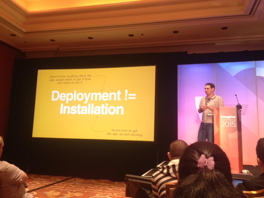 wiktorjarka: .@fbrnc on deployment patterns at #ImagineCommerce developers barcamp http://t.co/946QsbrTXV