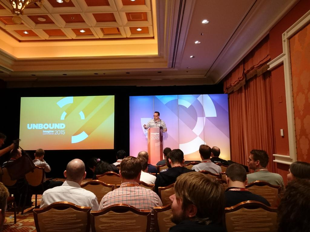 magento_rich: Nick Stoianov from @magento Support, giving Bar Camp presentation on performance and scalability. #ImagineCommerce http://t.co/ES5AJW5qoE