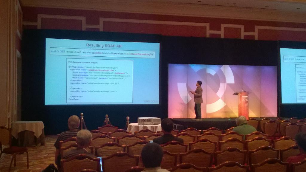 texanhogman: Anup discussing Magento2 web APIs at #ImagineCommerce http://t.co/yrSQ65OksJ
